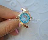 Серебряное кольцо с накладками золота, фото 2