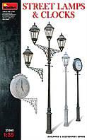 Уличные фонари, столбы с уличными часами 1/35 MiniART 35560