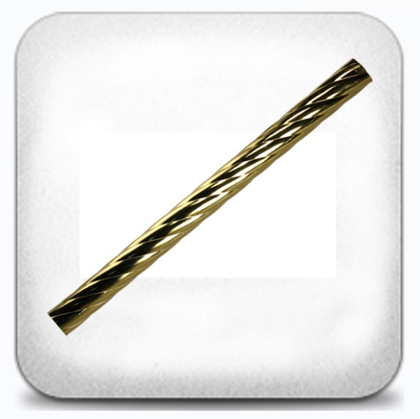 Труба витая 3,0м д.19мм золото