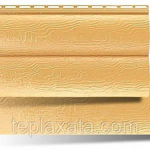 Сайдинг АЛЬТА ПРОФИЛЬ Блокхаус виниловый (2 излома) золотистый, бежевый (0,992 м2)