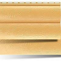 Сайдинг АЛЬТА ПРОФИЛЬ Блокхаус виниловый (2 излома) золотистый, бежевый (0,992 м2), фото 1