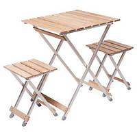 Комплект стол и стулья раскладные Малый