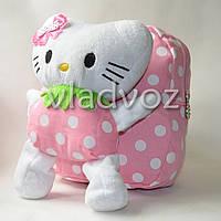 Детский рюкзак с мягкой игрушкой Hello Kitty нежно розовый