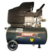 ✅ Компресор однопоршневий прямоприводный 1.7 кВт 25л 220л/хв Sigma 853125z