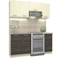 Кухонный гарнитур МДФ 1,8 метра из 5 модулей дуб сонома
