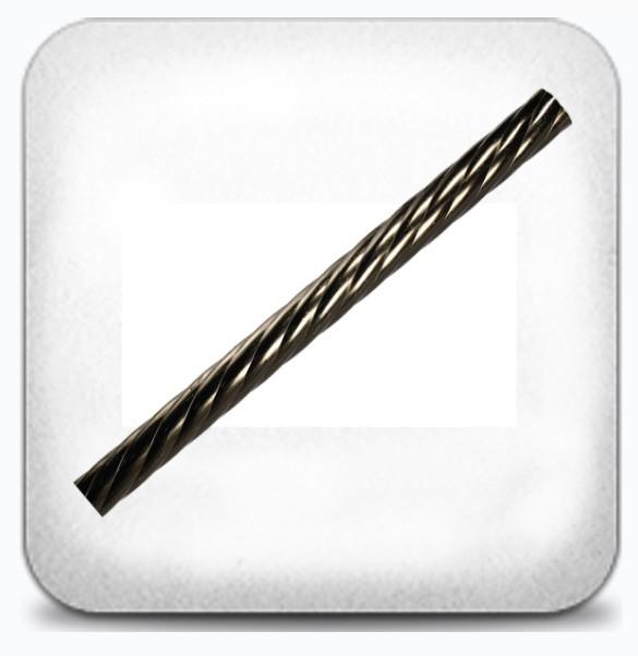 Труба витая 2,0м д.19мм графит