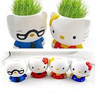 Керамический травянчик с семенами Hallo Kitty (Хеллоу Китти)