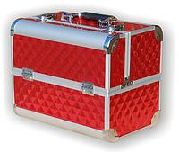 Чемодан металлический раздвижной красный 740 YRE