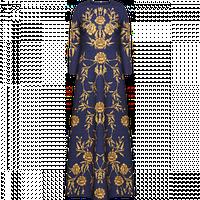 Вечернее платье Faberlic из фактурного жаккарда с орнаментом Ампир, цвет темно-синий р. 42