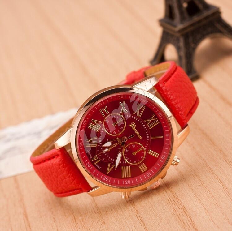 Женские часы Geneva Platinum Red