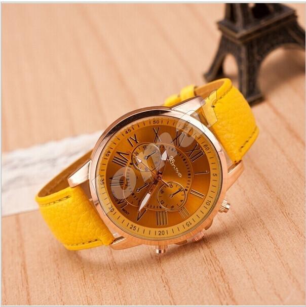 Женские часы Geneva Platinum Yellow