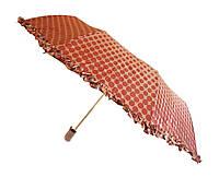 Зонт с рюшами Горошек антишторм капучино
