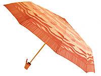 Зонт Антишторм автомат Оранжевый с завитушками