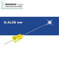 Карпульная игла евростандарт Master 0,4х36 мм