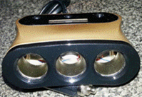 Разветвитель 1501 тройник с вольтметром 12-24В с проводом