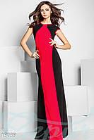 Пышное платье шлейф. Цвет красно-черный.