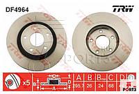 Тормозные диски передние Nissan Qashqai, X-trail