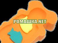 Поролон губка матрасик для купания в ванночку Польша 0286 Оранжевый