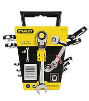 ✅ Набор ключей комбинированных с трещоткой и карданом (8-10-12-13-17-19 мм) STANLEY 4-91-444