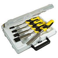 ✅ Набор стамесок 5 ед. (пластиковый кейс) серия DynaGrip™ (6, 10, 15, 20, 25 мм) STANLEY 2-16-888