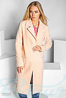 Однобортовое кашемировое пальто. Цвет бежевый.