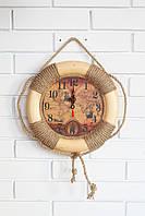 """Часы деревянные """"Спасательный круг """", фото 1"""