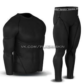 ТЕПЛОЕ термобелье Tesla: Рашгард + компрессионные штаны, фото 2