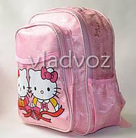 Детский рюкзак hello kitty нежно розовый бантик пара