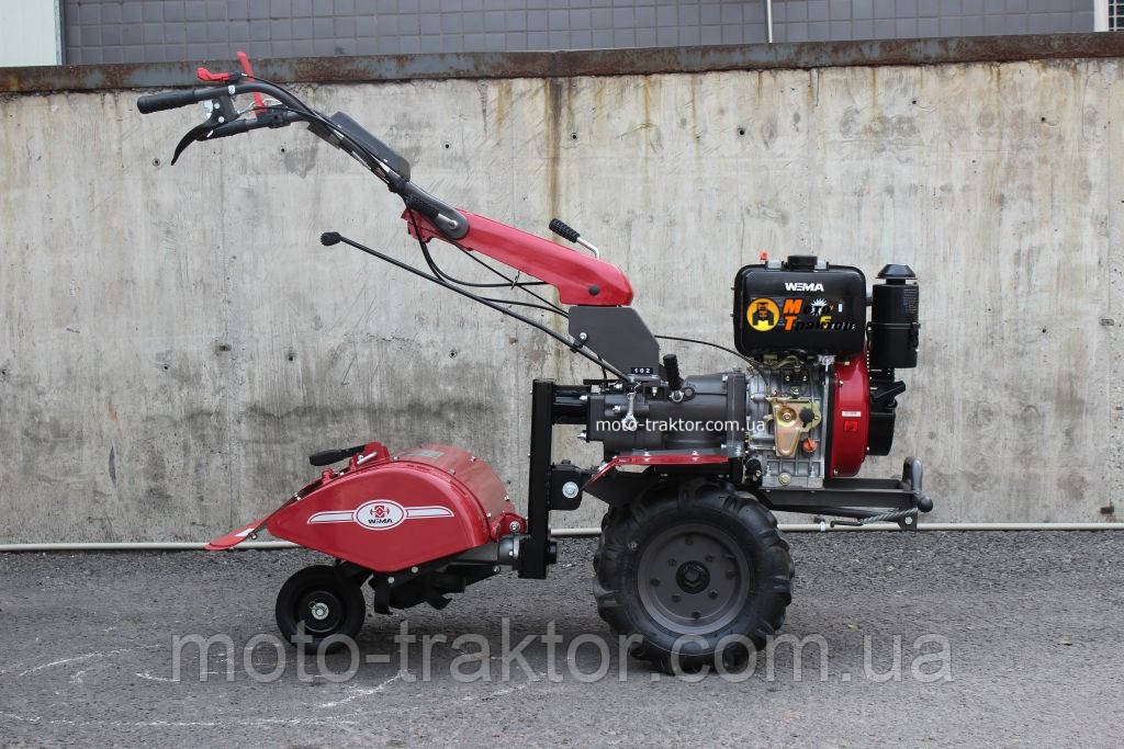 Мотоблок WEIMA  WM1100 В-6 КМ (4+2 скорости, дизель 9,5 л.с.колеса 4,00-10) Бесплатная доставка