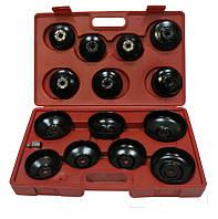 Комплект съемников масляных фильтров 14ед. (крышки)  HESHITOOLS HS-E1245