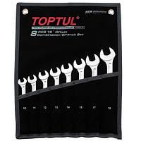 ✅ Набор ключей комбинированных 8 шт. 10-19 TOPTUL GAAA0804