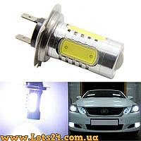 Авто-лампы H7 5 COB LED 6500К (светодиодные лампочки, лучше чем галогенки и ксенон)