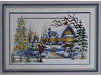 Набор для вышивки картины Снежная Зима 73х49см