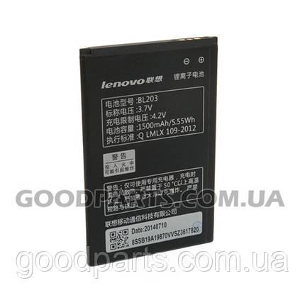 Батарея аккумуляторная BL203 1500mAh Li-ion для телефона Lenovo (Оригинал), фото 2