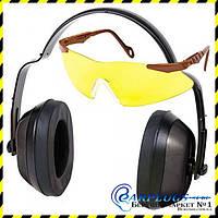 Набор Allen Safety Combo (защитные наушники и стрелковые очки с линзами из поликарбоната)