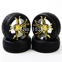 2 шт. RC автомобильные шины резиновые шины и обода колеса для HSP HPI RC 1:10