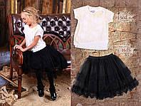 Гипюровая школьная блузка (с белой майкой) Mone