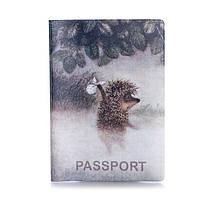 """Обложка для паспорта """"Ёжик в тумане"""" 10024"""