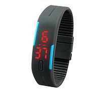 Спортивные силиконовые Led часы Grey