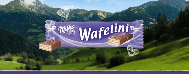 Вафли Milka Wafellini купить в Киеве, Одессе, Николаеве, Мариуполе, Луцке, Волновахе по лучшей цене 17 грн