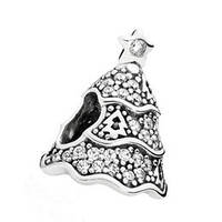 Шарм Новогодняя елка Пандора Pandora серебро