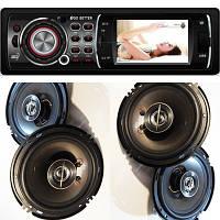 Крутой Бюджетный набор Авто-Звука с Видео Магнитолой Pioneer 3012А + 2 пары круглых 16 см!