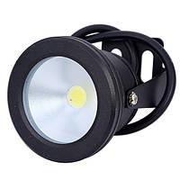 Светодиодный LED прожектор 10Вт IP67 12В герметичный черный