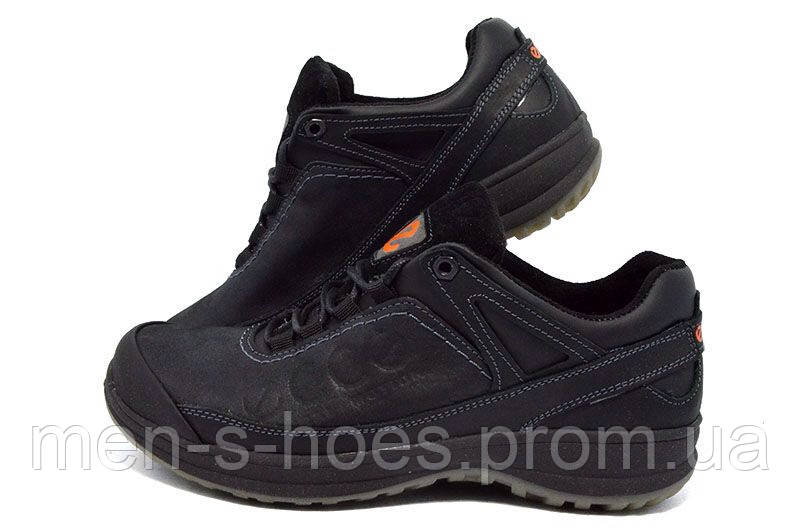 Мужские туфли спортивные кожаные Ecco Natural Motion Black