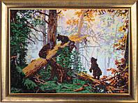 Набор для вышивки бисером Утро в сосновом лесу (по картине И. Шишкина) 594