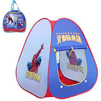 Палатка Человек Паук 803 Spider-Man 80х80х90 см со шторкой, в сумке, быстрая сборка