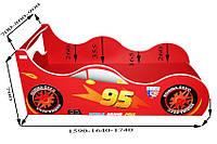 Кровать детская Автомобиль 1640/936 (матрас 1600 мм.)+Кромка Т-резиновая (Серия Форсаж)