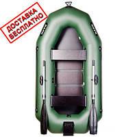 Двухместная гребная надувная лодка Bark (Барк) с транцем и реечным настилом. Бесплатная доставка!