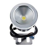 Светодиодный LED линзовый прожектор 10Вт IP67 12В герметичный