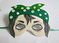 Карнавальная маска Баба Яга-1